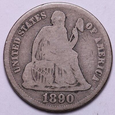 1890-S Seated Liberty Dime             R6TM