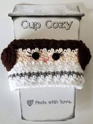 Princess Leia Inspired Star Wars Crochet Coffee Cup Cozy Drink Sleeve Handmade