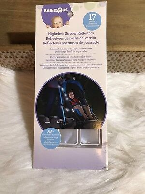 Babies R Us Nighttime Stroller Reflectors 17 Decals New In Package