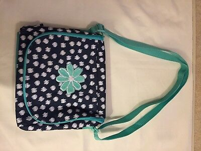 Thirty One Going Places Thermal  Navy Doodle Dot with Flower NIP
