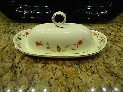Hall Jewel Tea Autumn Leaf 1/4 Pound Ring Covered Butter Dish ~GREAT GIFT IDEAL
