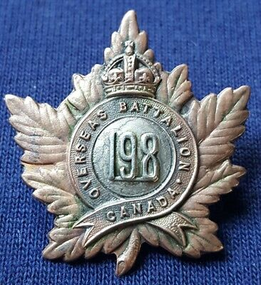 198th Overseas Battalion Canada Canadian Buffs Cap Badge