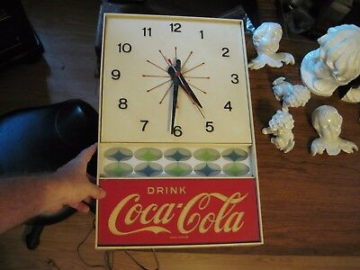 "Very Nice 12"" x 20"" Antique DRINK COCA COLA Clock ESTATE SALE!"