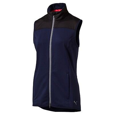 (Large, Peacoat) - Puma Golf Womens 2017 Women's Pwrwarm Knit Vest. Unbranded