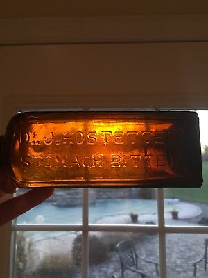 Antique W. McC & Co. F Embossed Base Dr. J. Hostetter's Stomach Bitters Bottle
