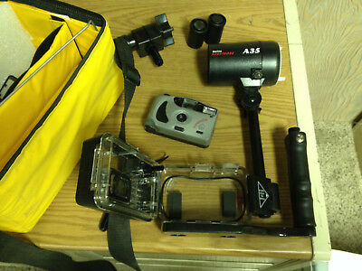 Ikelite Underwater Housing AND Auto 35mm Camera flash complete package
