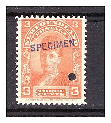 Newfoundland Uni.# 83 Queen Alexandria; MNH w/ overprint & security punch