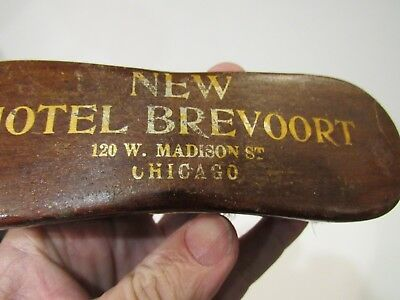 "Original 1906 ""new"" Hotel Brevoort Chicago Advertising Bar Brush Rare"