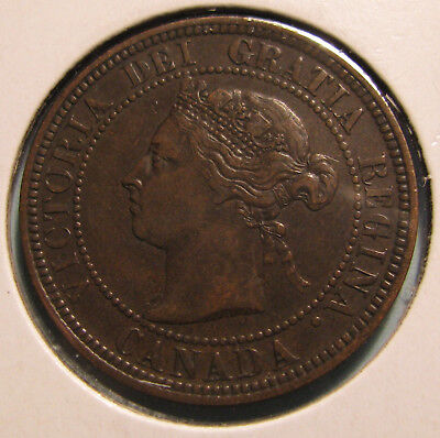 Canada 1886 Large Cent.  KM#7  (Item 0194)