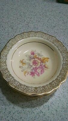 WS George. Canarytone. Filigree. Floral. (6) small bowls.