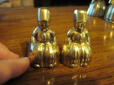 Vintage Pair of Cast Brass Asian Colonial Figurine Bells