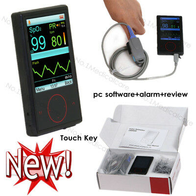 "2.8"" Touch Key SPO2 Pulse Oximeter with pc software, review and alarm function"