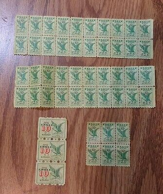 Vintage Eagle Stamp Saver Grocery Store Book Stamps