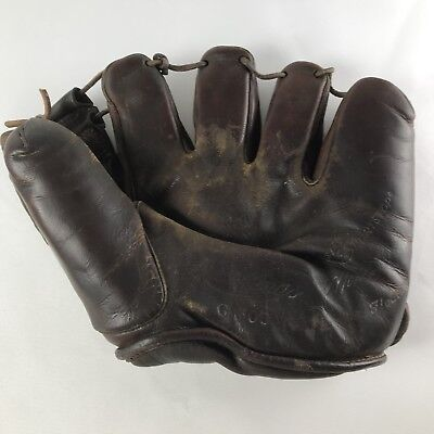 Vintage 1940s Rawlings St. Louis Marty Marion Mr. Shortstop Baseball Glove G 600
