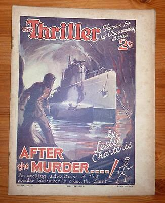 THE THRILLER No 268 Vol 10 24TH MAR 1934 AFTER THE MURDER! LESLIE CHARTERIS