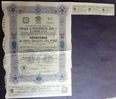 Russia  City of St.PETERSBURG  Loan / Bond  375 Rubles  1901