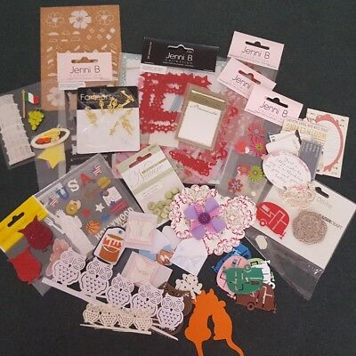 Bundle of mixed embellishments for craft
