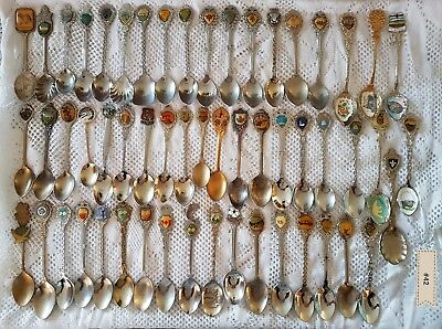 #42 - Lot of 55 Vintage Souvenir Spoons - Canada - Some silverplated