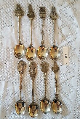 #52 - Lot of 8 Spoons - Marked with WE Crest - Made in Holland