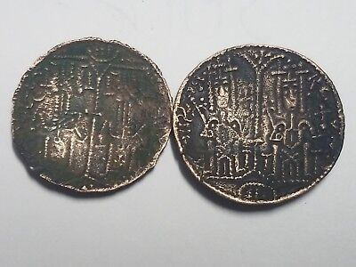 Lot of 2 Medieval Hungary King Bela III Byzantine Follis Type  Ancient Coin