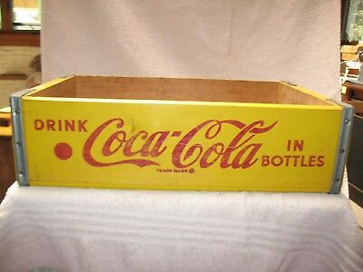 Coca Cola Wooden Soda Crate 1968