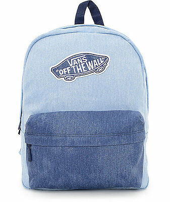 VANS REALM DENIM BLUE/BLUE BACKPACK 100% AUTHENTIC MSRP $38-  NEW w/TAG!!