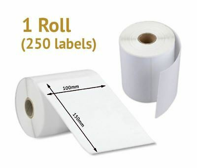 """1 x Roll of Direct Thermal Shipping Labels 4x6"""", 100x150mm (250 Labels)"""