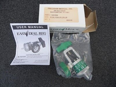 NEW IN BOX PRECISION MEDICAL EASY DIAL 1600 Series Oxygen Regulator 168708D