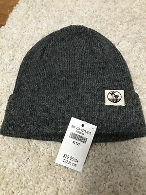 NWT HOLLISTER WOMENS SOFT BEANIE HAT CAP Charcoal ONE SIZE