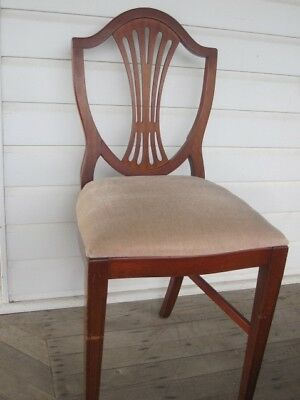 Quality old chair ex-Hardy Brothers velvet upholstery very solid etc BRISBANE NR