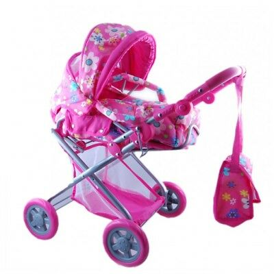 Children's Dolls Pram With Cocoon and Carry Bag