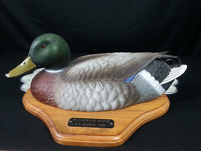 Hand Painted Mallard Duck Figurine JULES A BOUILLET Life Size Limited Edition