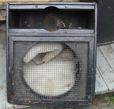 """Two Battered Old Empty Foldback Wedges for 15"""" Speaker and Horn"""