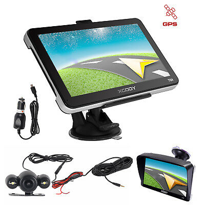 7'' GPS Navigation SAT NAV Bluetooth with Wired Reverse Backup Camera XGODY 704