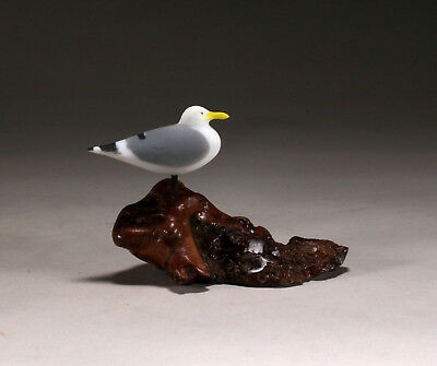 Perching Seagull New Direct from John Perry 3 inches long Handpainted