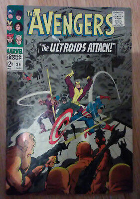 Avengers Vol 1 #36 (1967) Lee Kirby Heck Thomas VF Combined P&P Available