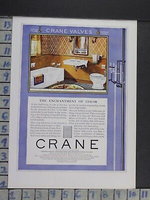 1922 Crane Bathroom Tub Sink Interior Design Home Decor Vintage Art Ad  Cn81