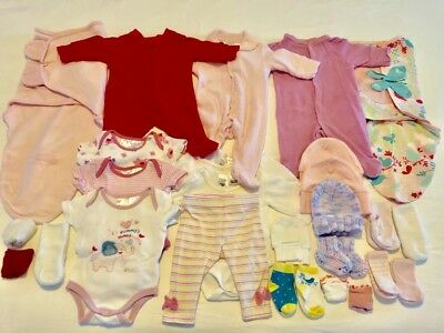 Baby Girls Newborn 0000 Clothes Bundle - over 25 items