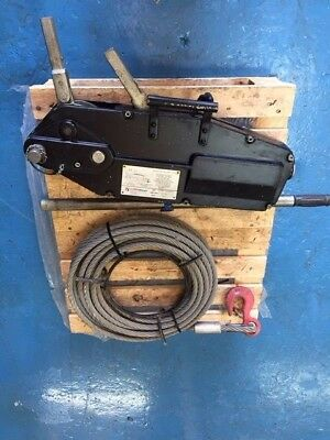 LiftinGear Tirfor wire rope lifting / pulling winch c/w 20mtr cable used