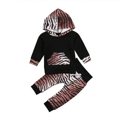 Toddler Baby Boy Girls Winter Outfits Clothes Hoodie Tops+Pants 2PCS Outfits Set