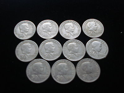 1974 Fifty Centavo Marcelo H. Del Pilar coin, a 40- year old coin KM # 200