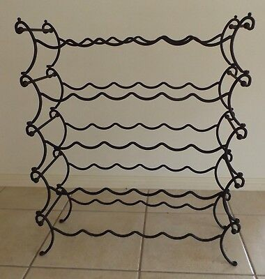 30 bottle wrought iron wine rack