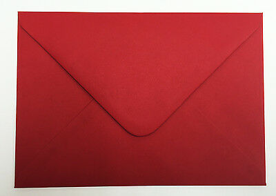 C5 Scarlet Red Envelopes for A5 Greeting Cards 100gsm