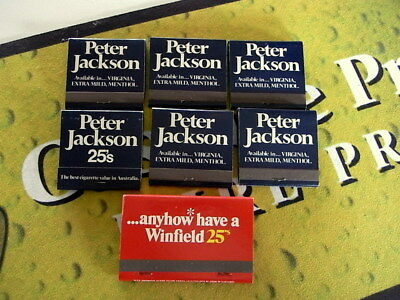 New Old Stock Advertising Matches Winfield & Peter Jackson