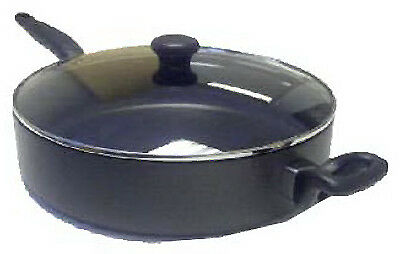 T-Fal/Wearever A7978284 Get A Grip Black Jumbo Cooker With Glass Cover -