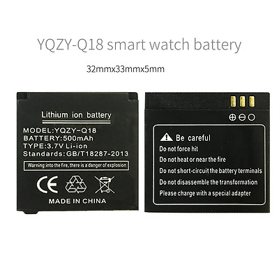 YQZY-Q18 battery Q18 smart watch phone 500mAh battery long time standby battery