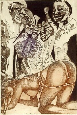 Exlibris bookplate erotic Bednarik
