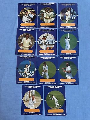 1989/90 Scanlens Stimorol Cricket Cards X 11