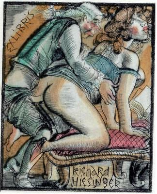 Exlibris bookplate erotic Domashenko