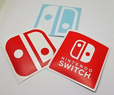 Nintendo Switch Logo Sticker Vinyl Decal - NO Video Game or Console 3DS Wii GBA